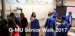 Seniors Take the Traditional Senior Walk