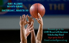 UPDATE: JOIN OUR ALUMNI GAME to benefit GMU Board of Education Scholarship Fund