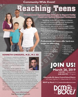 "REMINDER: GMU Hosts ""Reaching Teens"" forum on March 26"