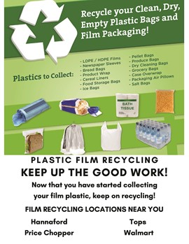 GMU wins plastic film recycling contest sponsored by Otsego County Conservation Association