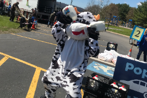 Cow mascot with milk (7/2020)