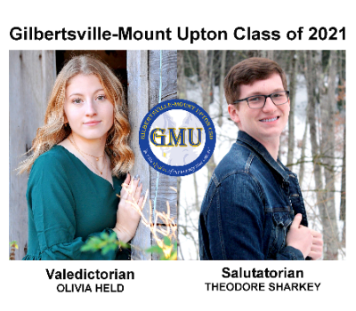 GMU Class of 2021 Valedictorian Olivia Held and Salutatorian Theodore Sharkey (6/2021)