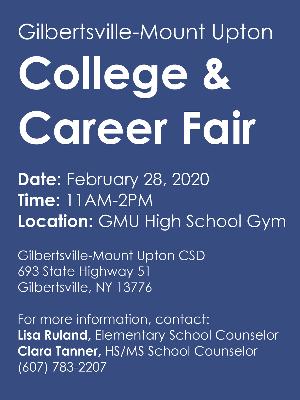 GMU College & Career Fair 2020 Flyer