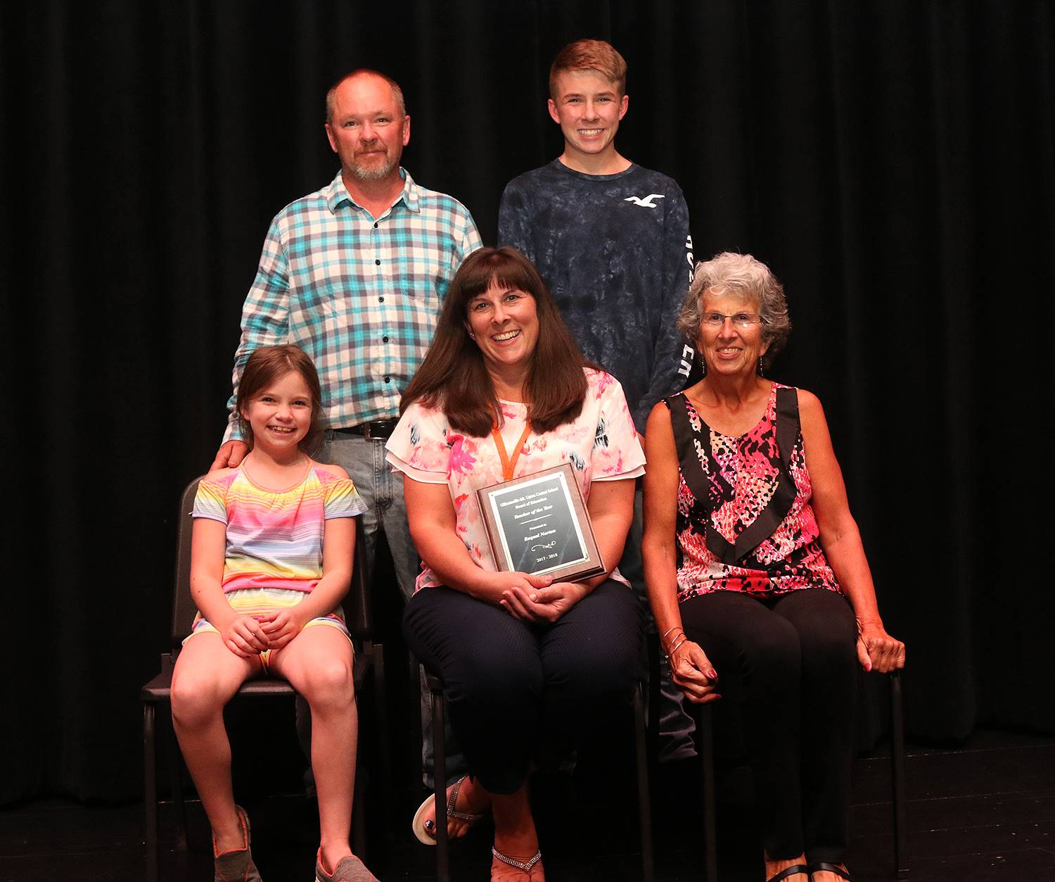 Teacher of the year 2018 with family
