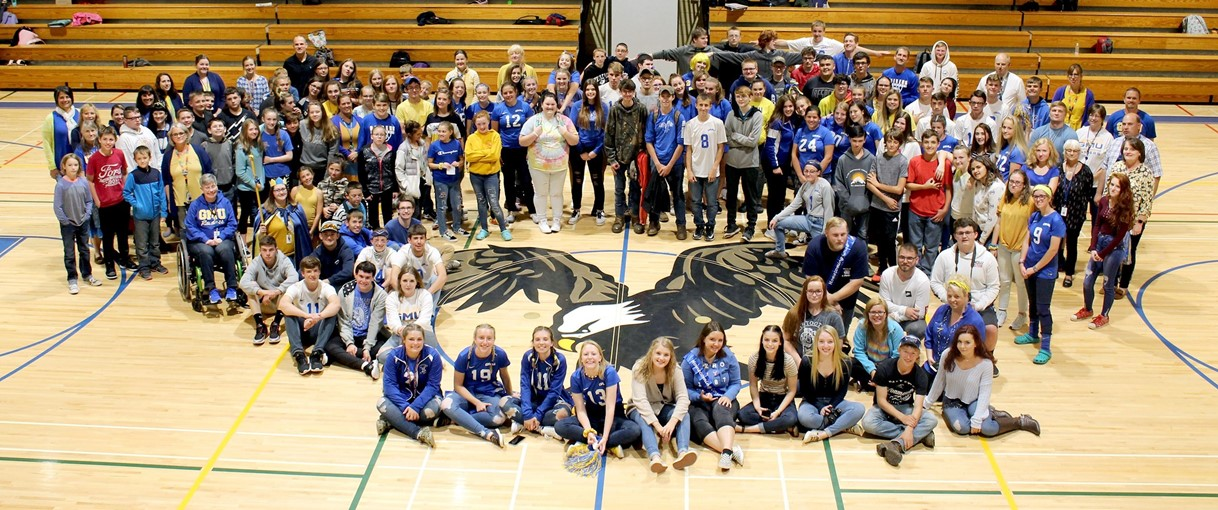 GMU students grades 7-12 Homecoming Pep Rally 2019