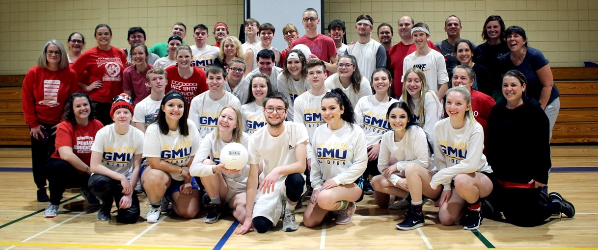 GMU seniors and staff annual volleyball (December 2019)