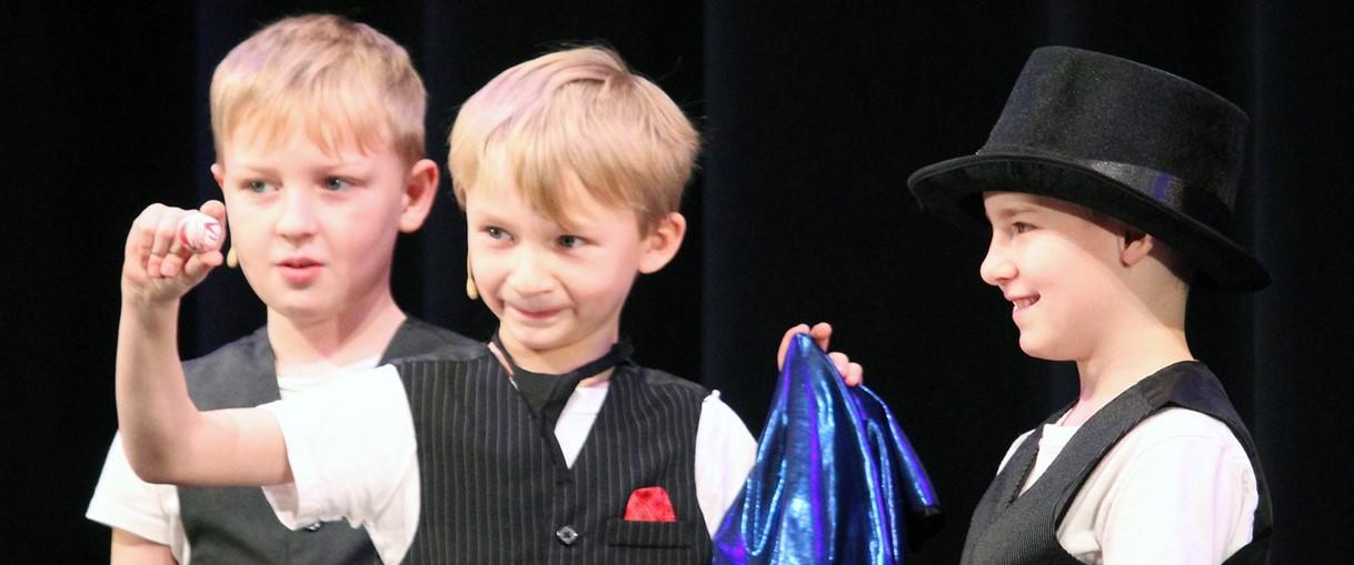 Three boys at Talent Show (2/2020)