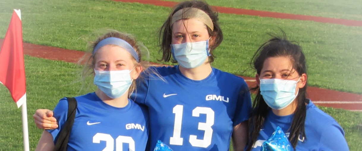 GMU senior girls soccer players (4/2021)