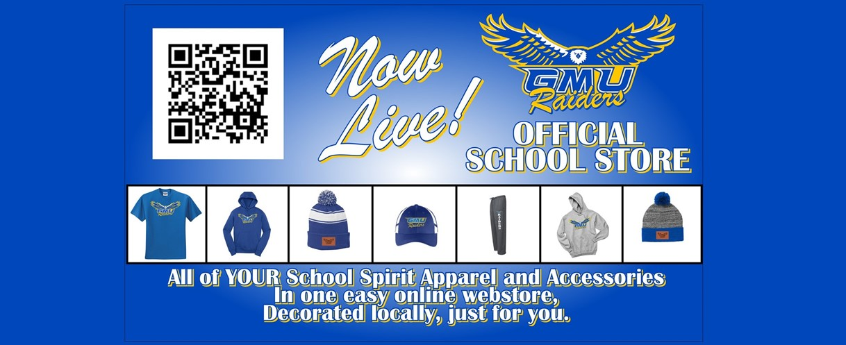 GMU Raiders Official School Store Now Live! All of YOUR School Spirit Apparel and Accessories in one easy online webstore, Decorated locally, just for you.